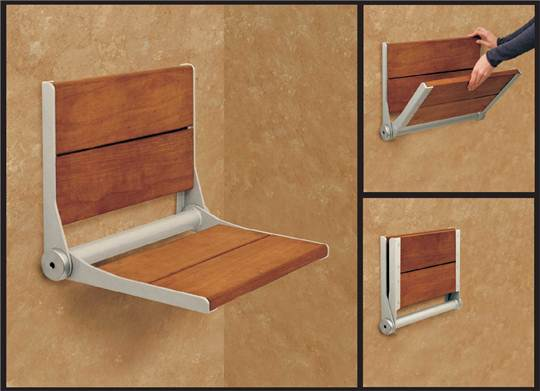 Fold-down Shower Seats: Safe & Sound | ReVisions Resources