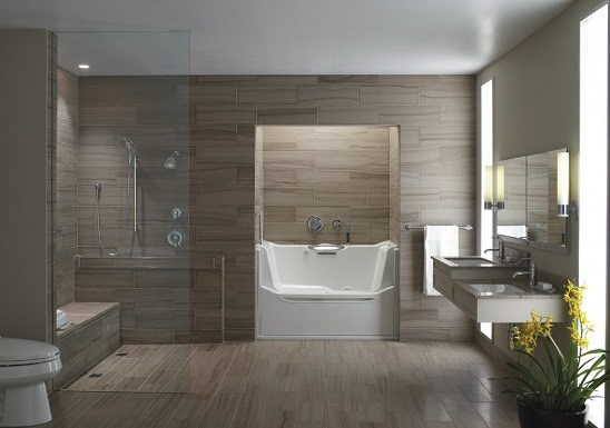 Kohler universal design bathroom